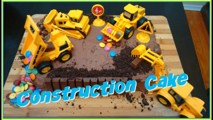 Construction Birthday Cakes Easy Construction Site Birthday Cake Diy Wesleys 5th Birthday