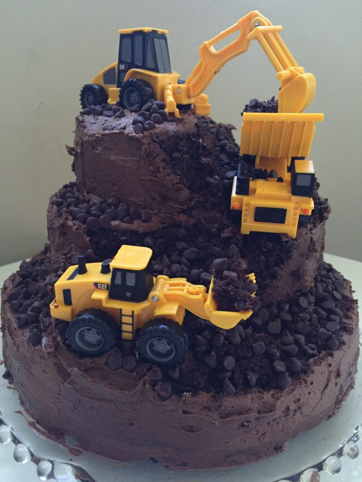 Construction Birthday Cakes My Construction Cake Construction Party Pinterest