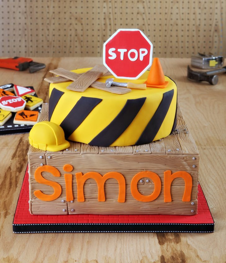 Construction Birthday Cakes Simons Construction Birthday Party Cake Autumn Carpenters Weblog
