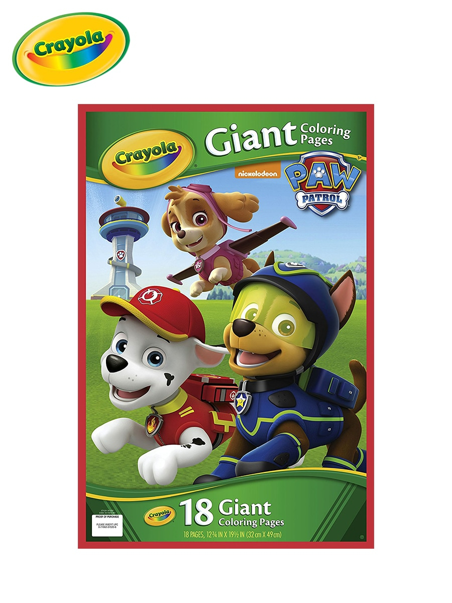Crayola Giant Coloring Pages Buy Crayola Giant Coloring Pages Paw Petrol Painting Art