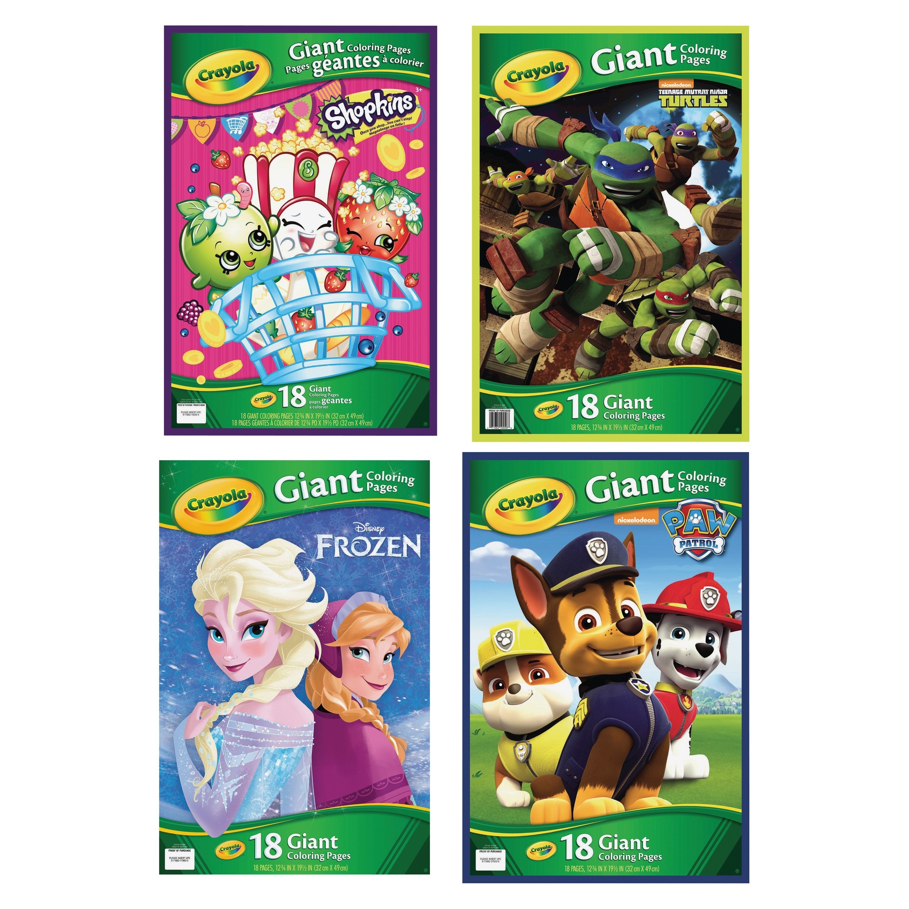 Crayola Giant Coloring Pages Crayola Giant Coloring Pages Assortment Ct Per Carton Ld Products
