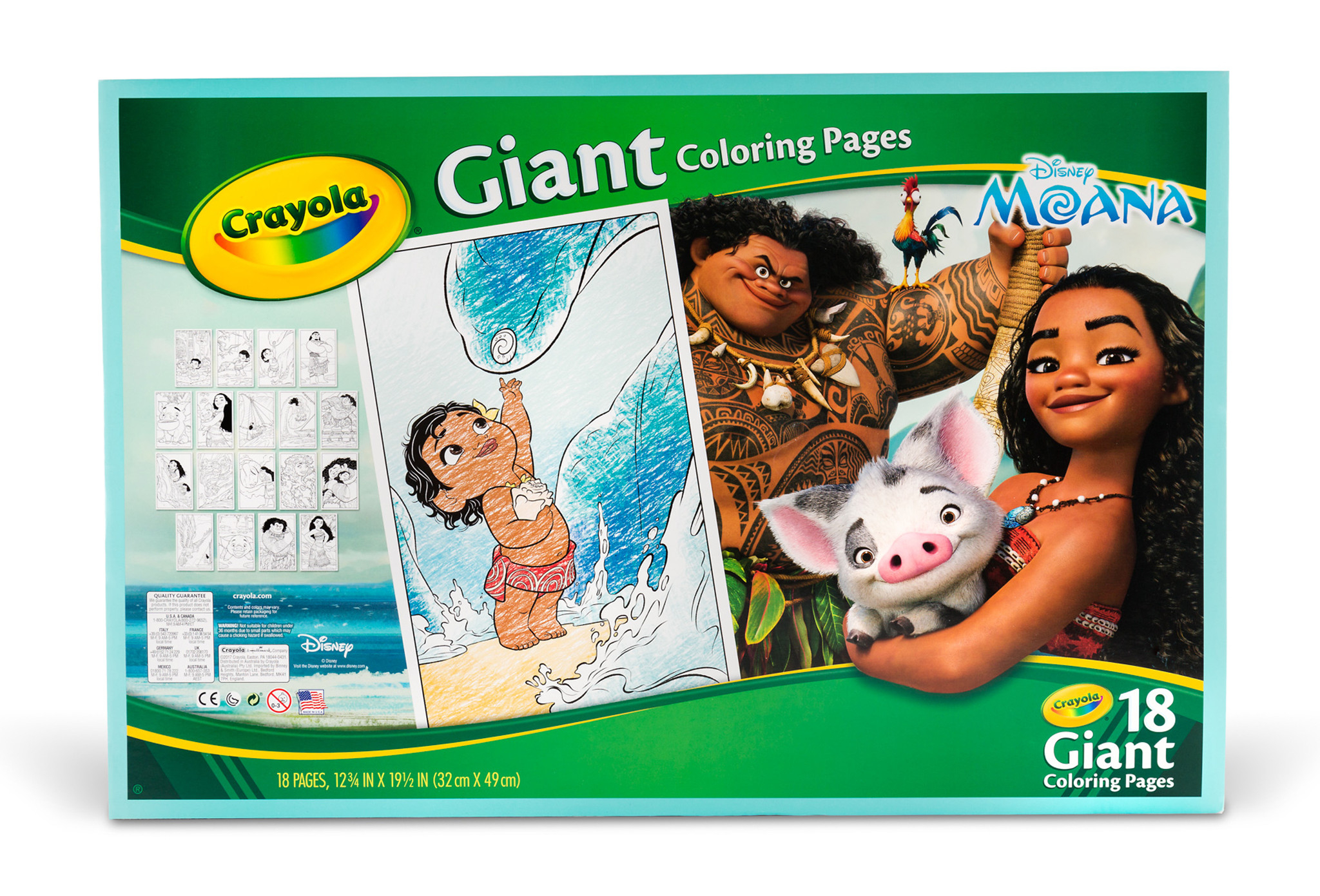 Crayola Giant Coloring Pages Crayola Giant Coloring Pages Featuring Disneys Moana Walmart