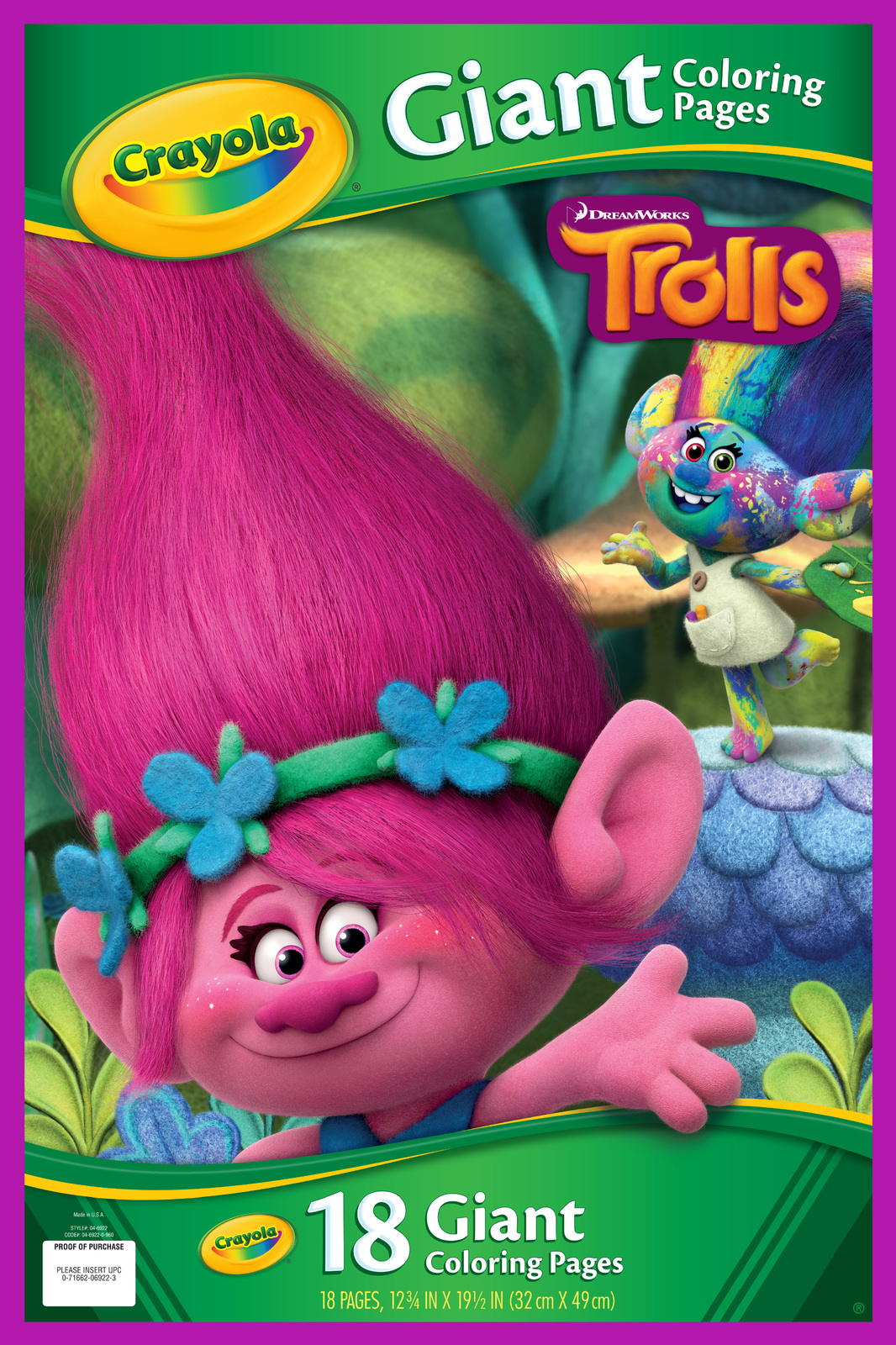 Crayola Giant Coloring Pages Crayola Giant Coloring Pages Trolls Toy At Mighty Ape Australia