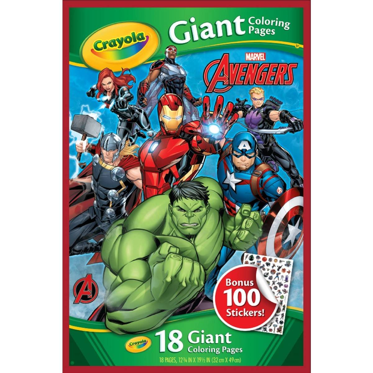 Crayola Giant Coloring Pages Crayola Giant Colouring Pages Avengers With Bonus Stickers Big W