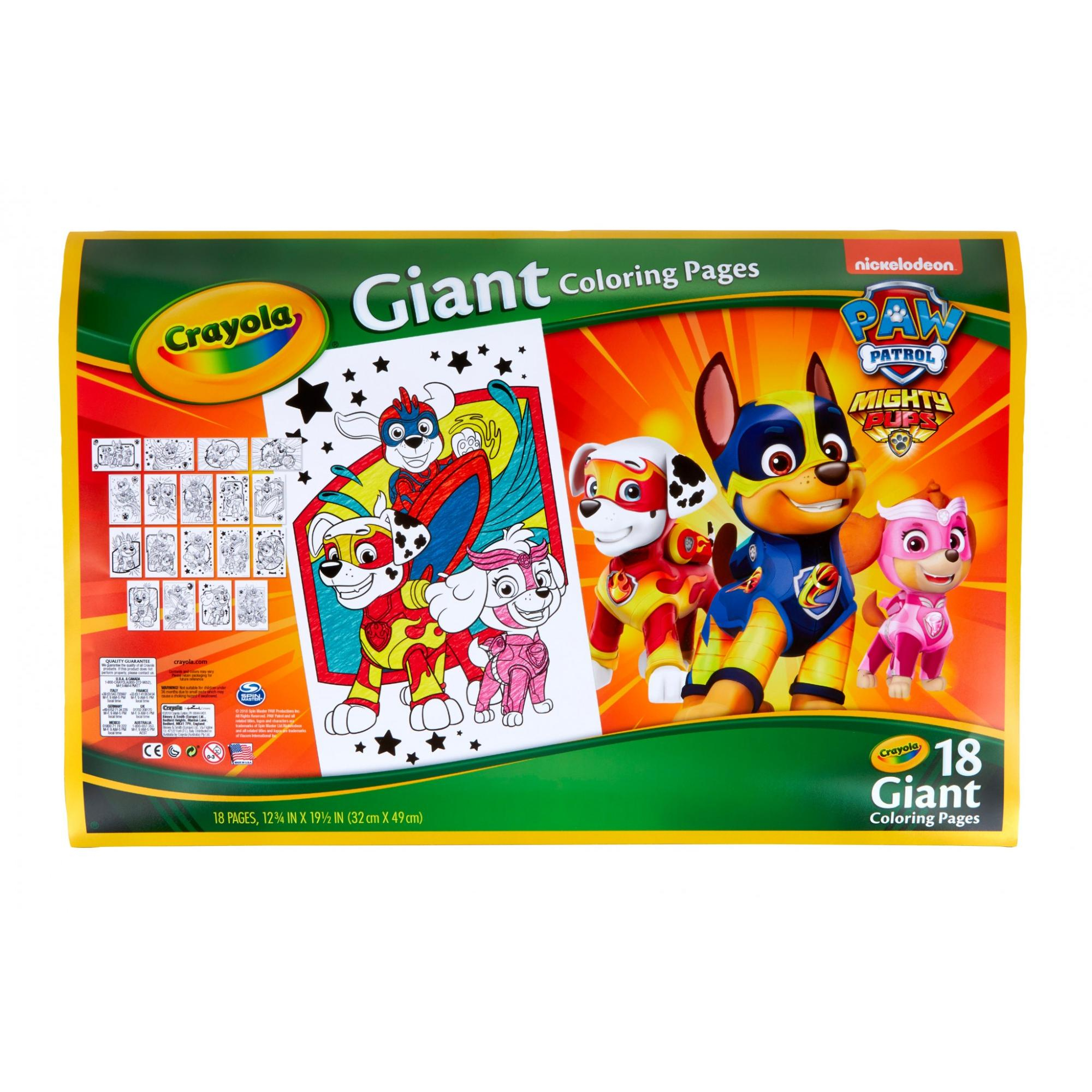 Crayola Giant Coloring Pages Crayola Paw Patrol Giant Coloring Pages Gift For Kids Age 3 4 5