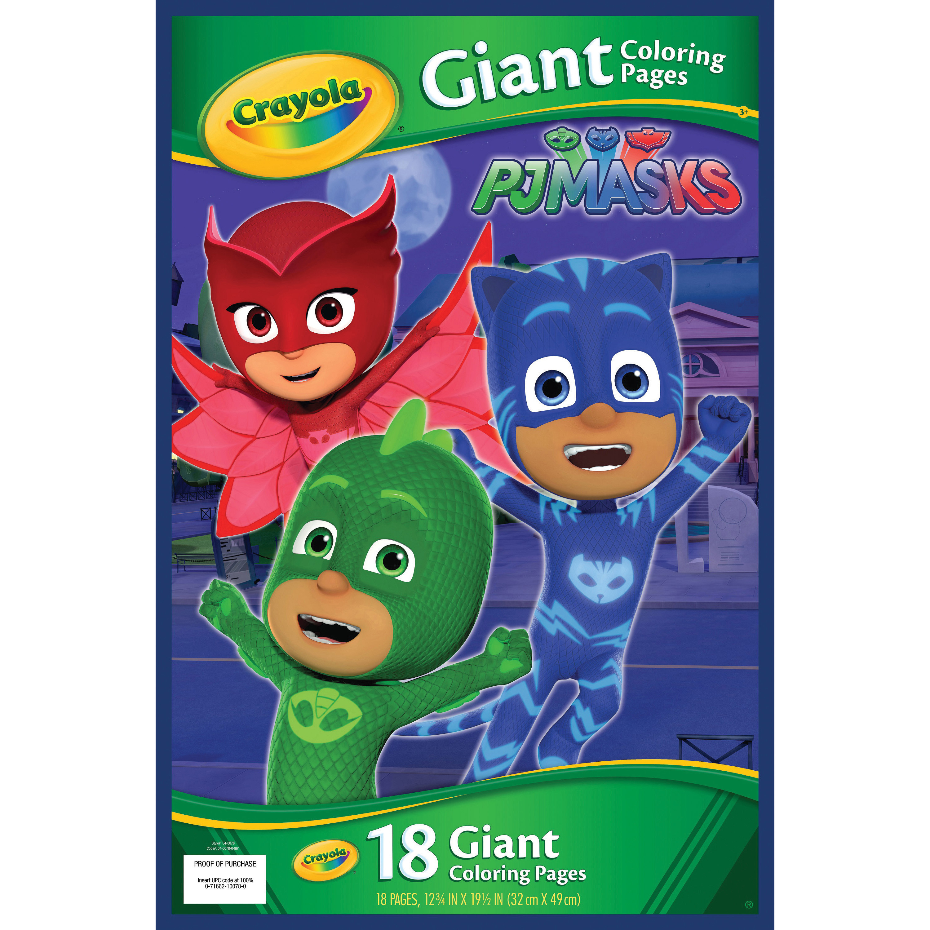 Crayola Giant Coloring Pages Crayola Pj Masks Giant Coloring Pages Brooker Business Products