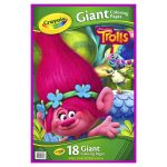 Crayola Giant Coloring Pages Crayola Trolls Giant Coloring Pages Arts Activities Meijer