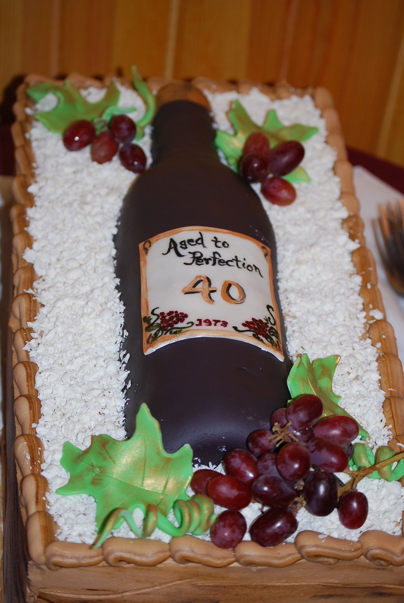 Crazy Birthday Cakes Wine Bottle Cake Bakery Junk Pinterest
