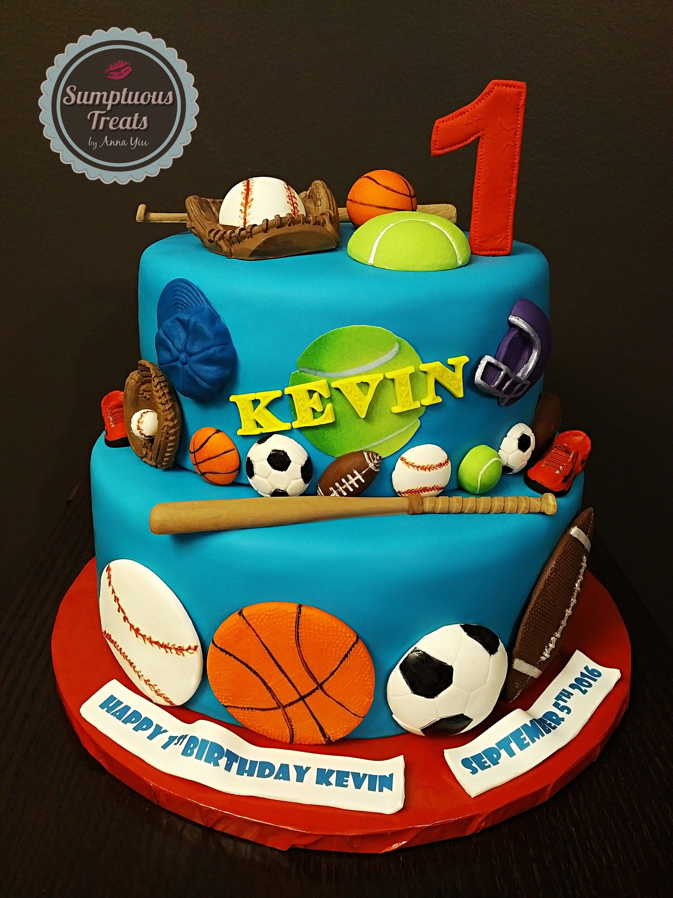 Custom Made Birthday Cakes Sports Theme 1st Cake To Order