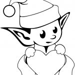 Cute Christmas Coloring Pages Cute Christmas Elf Coloring Page Free Printable Coloring Pages