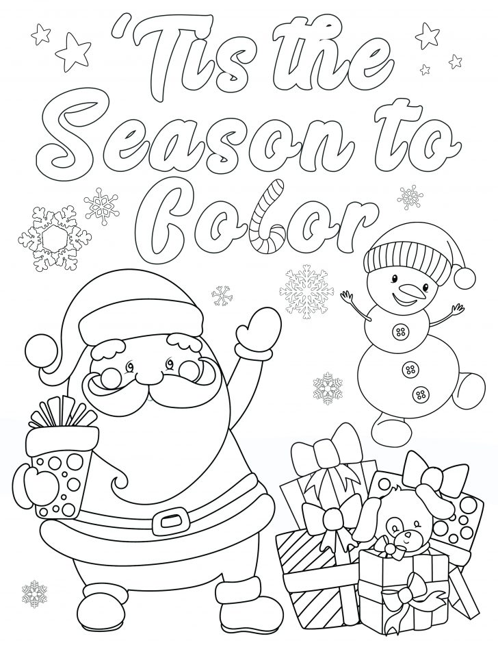 Cute Christmas Coloring Pages Free Christmas Coloring Page Tis The Season To Color Happiness