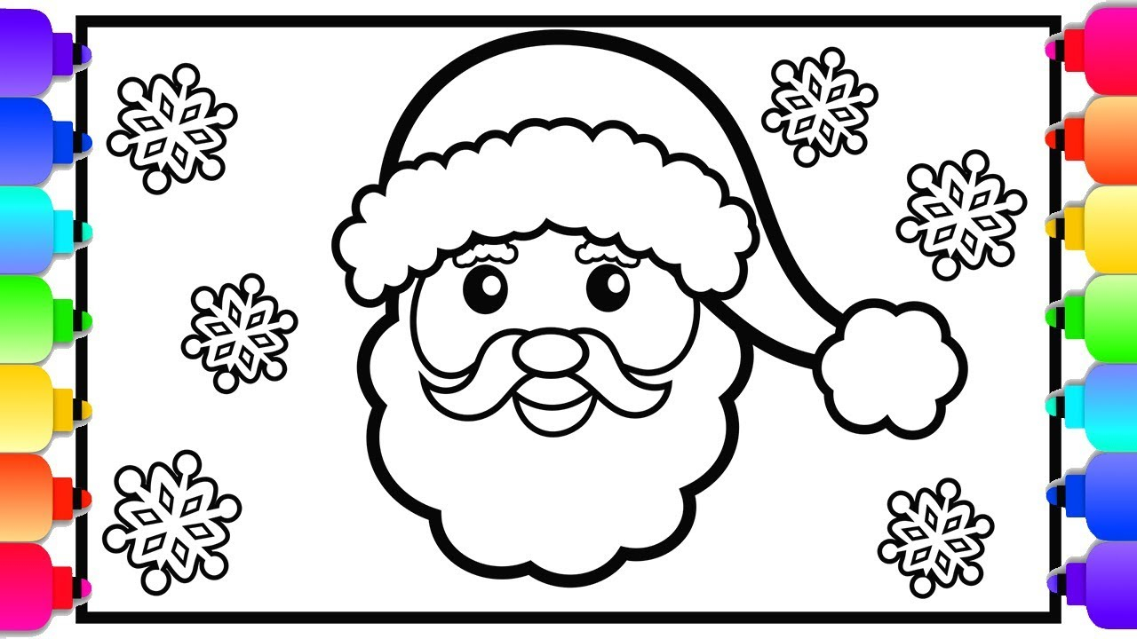 Cute Christmas Coloring Pages Learn How To Draw Santa Cute Christmas Coloring Pages For Kids