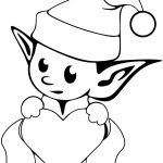 Cute Christmas Coloring Pages Printable Cute Christmas Coloring Pages Elf Drawing Pictures Free