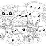 Cute Food Coloring Pages Cute Food Coloring Pages Kawaii Foods Free Printable Coloring Pages