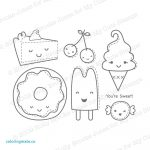 Cute Food Coloring Pages Cute Kawaii Food Coloring Pages At Getcolorings Free Printable