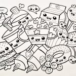 Cute Food Coloring Pages Cute Kawaii Food Coloring Pages Coloring Home