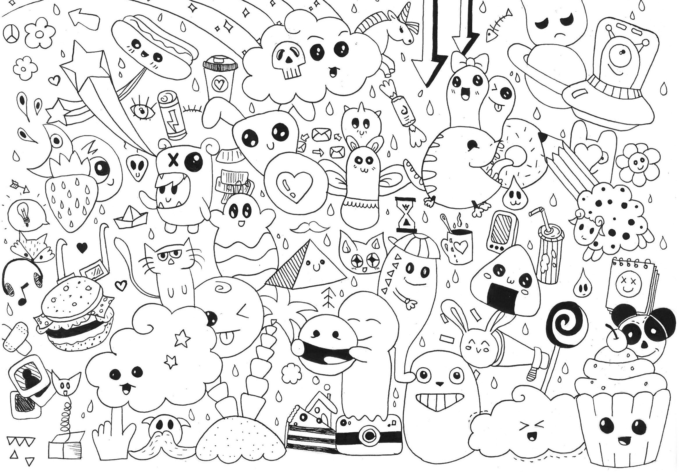 Cute Food Coloring Pages Kawaii Food Coloring Pages Only Coloring Pages