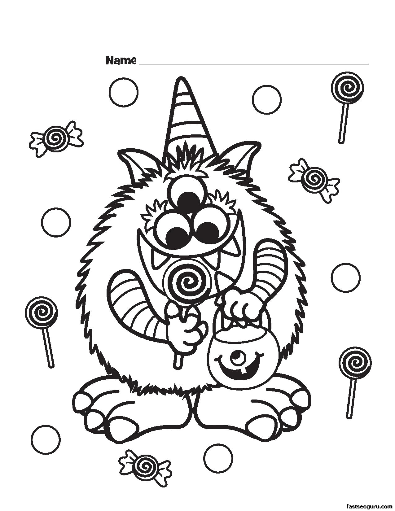 Cute Halloween Coloring Pages Cute Halloween Coloring Pages For Kids Thanhhoacar