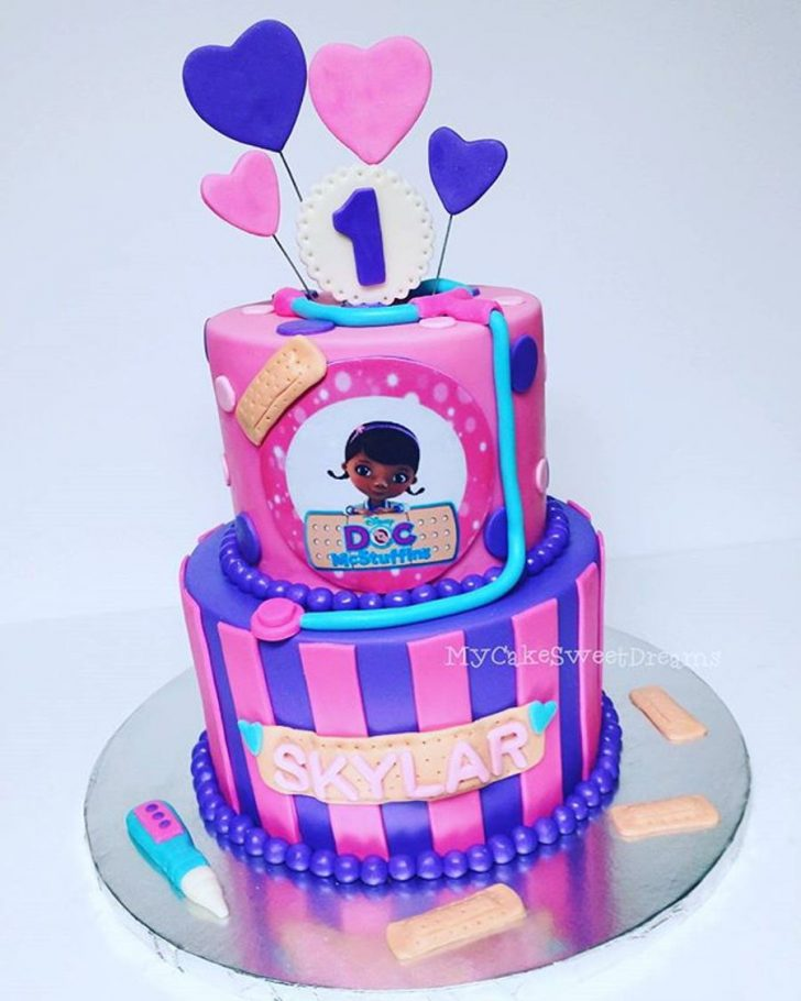 Doc Mcstuffin Birthday Cake Doc Mcstuffins 1st Birthday Cake Cakecentral