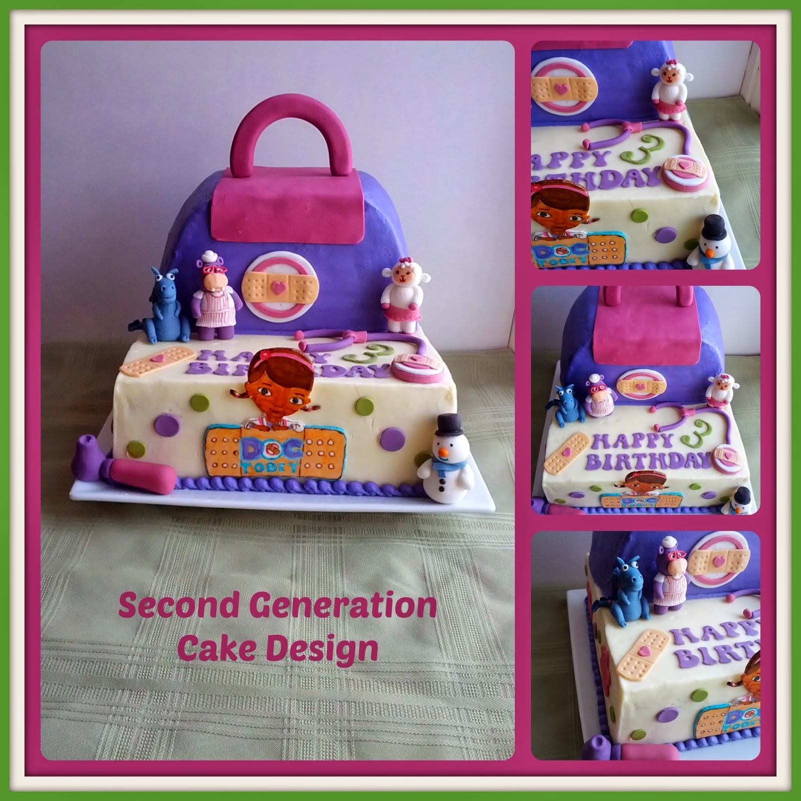 Doc Mcstuffin Birthday Cake Second Generation Cake Design Doc Mcstuffins Birthday Cake