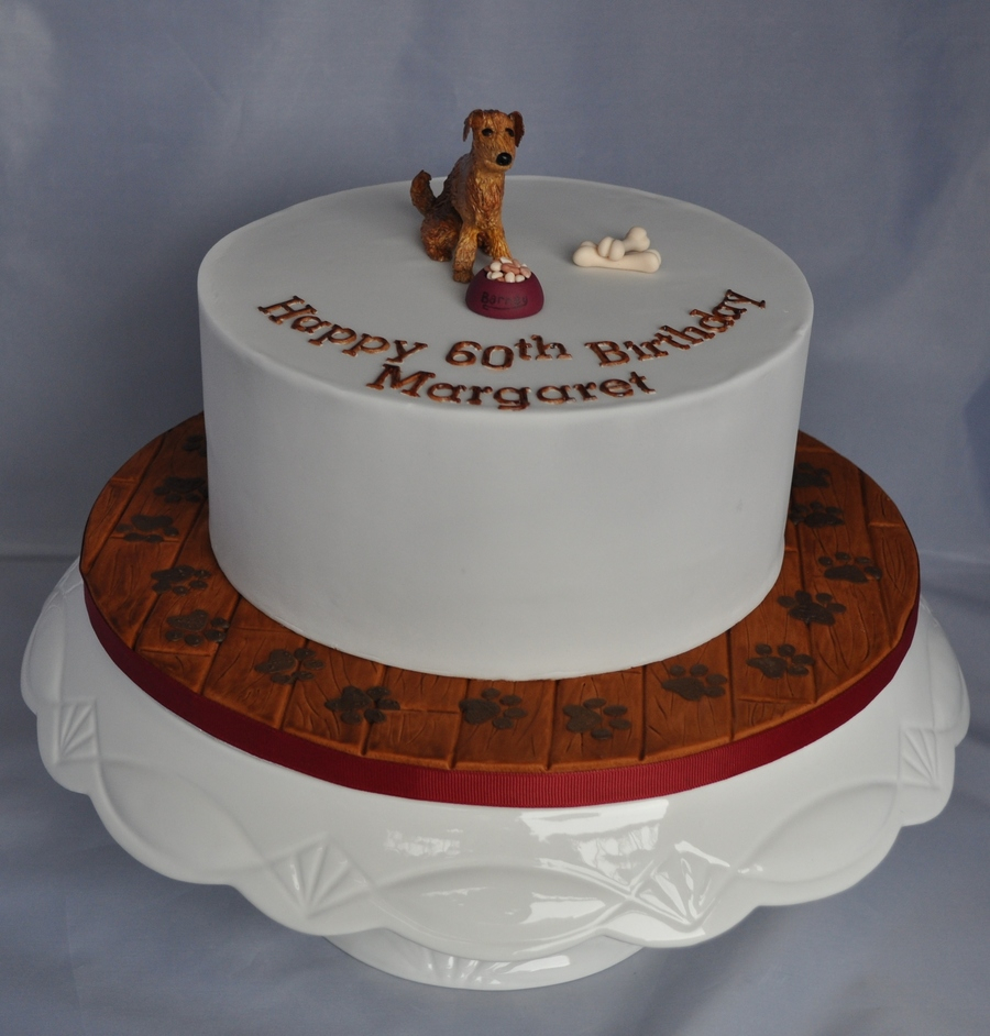 Dog Themed Birthday Cake Chocolate Vanilla Homemade Puppy Childrens Kids Theme Cakecentral