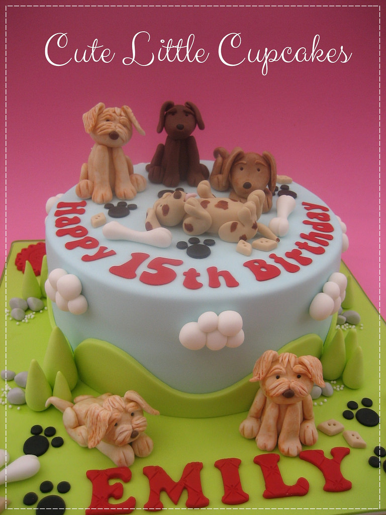 Dog Themed Birthday Cake Heidi Stone Flickr