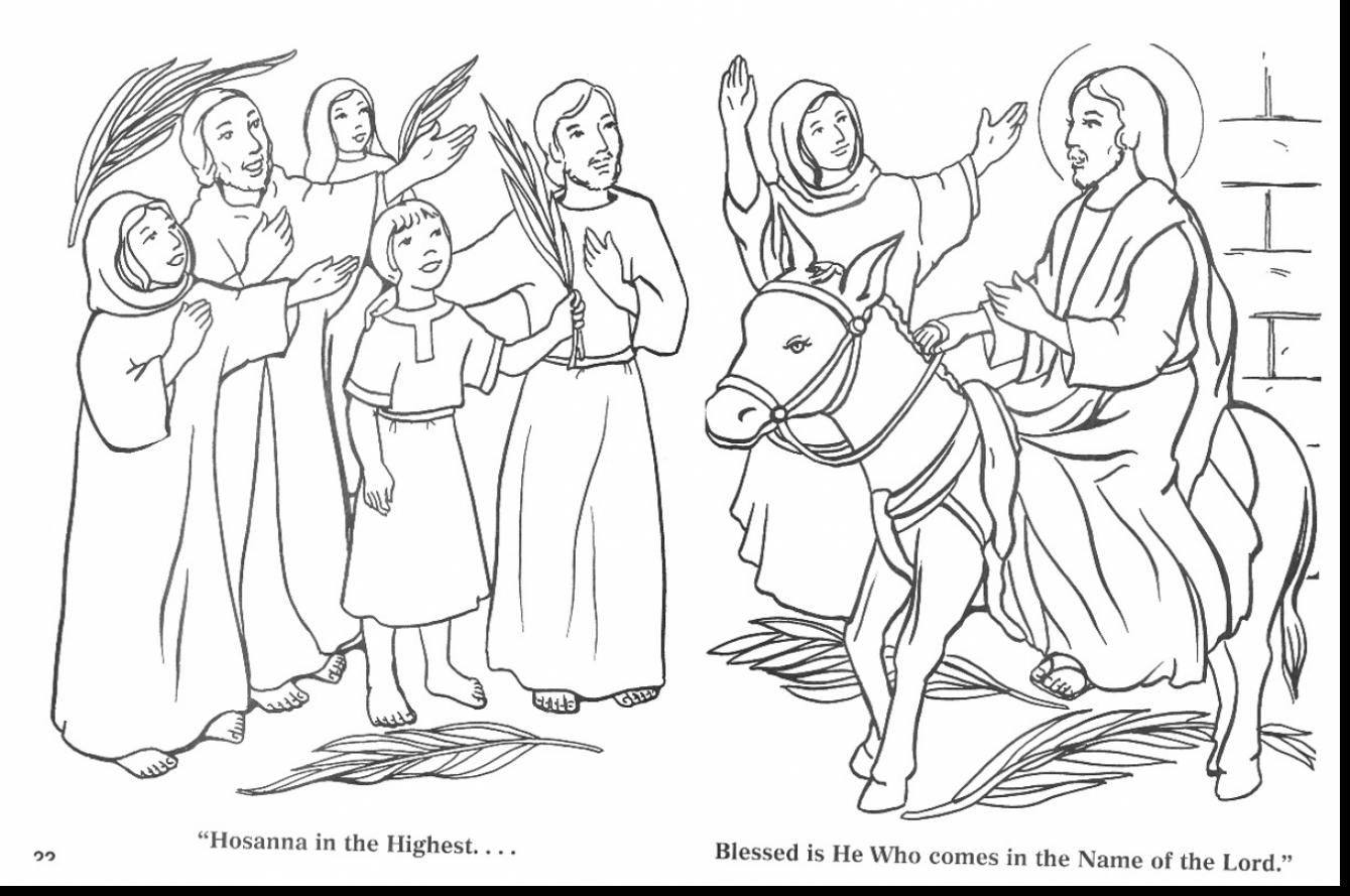 Donkey Coloring Page Palm Sunday Coloring Pages Remarkable Palm ...