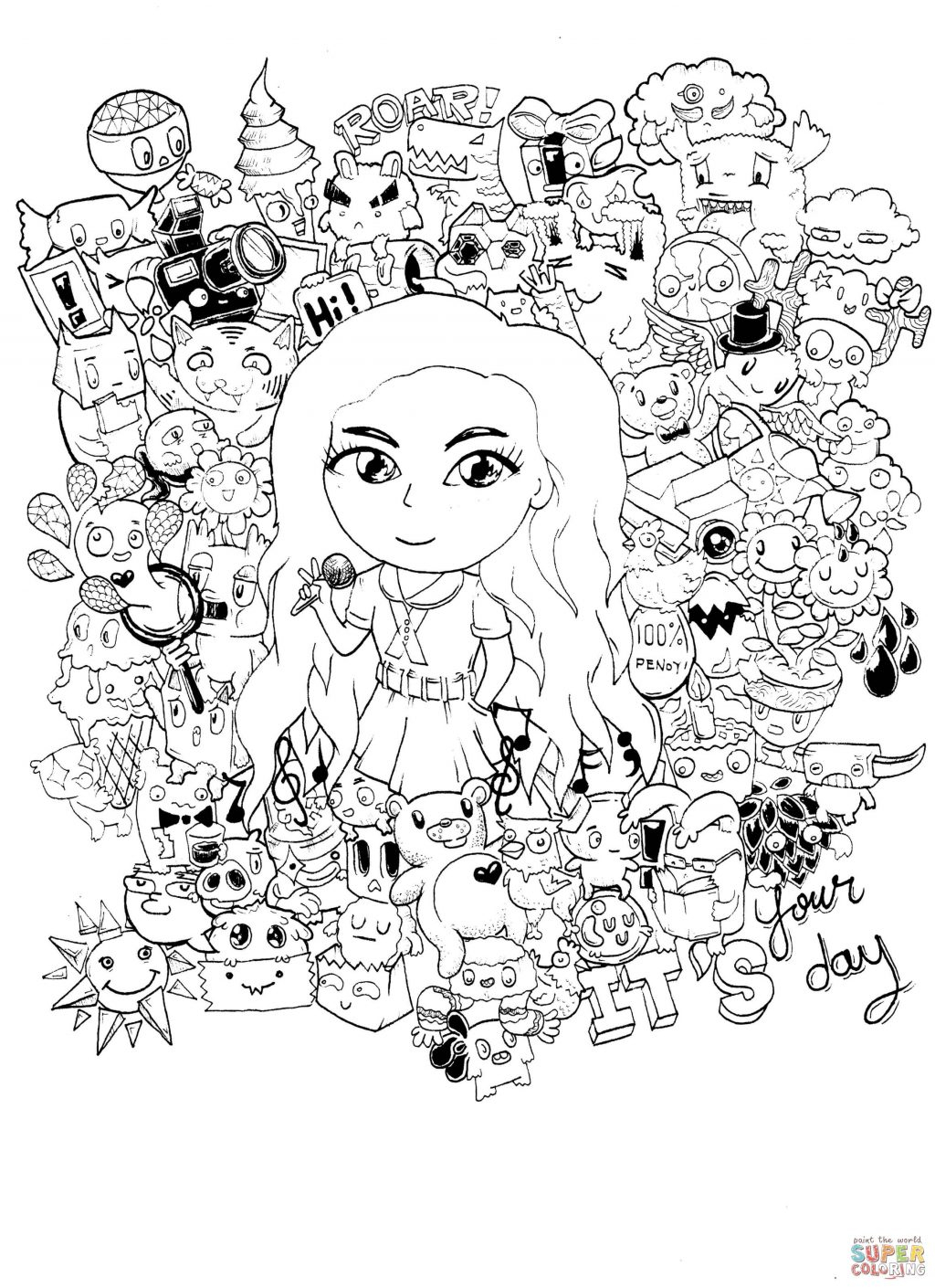 Doodle Art Coloring Pages Coloring Pages Doodle Art Coloring Pages Free To Make Google
