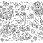 Doodle Art Coloring Pages Doodle Art Coloring Pages Best Of Simple Easter Adult Awesome Image