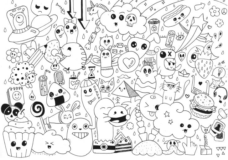 Doodle Art Coloring Pages Doodle Art To Print For Free Doodle Art Kids Coloring Pages