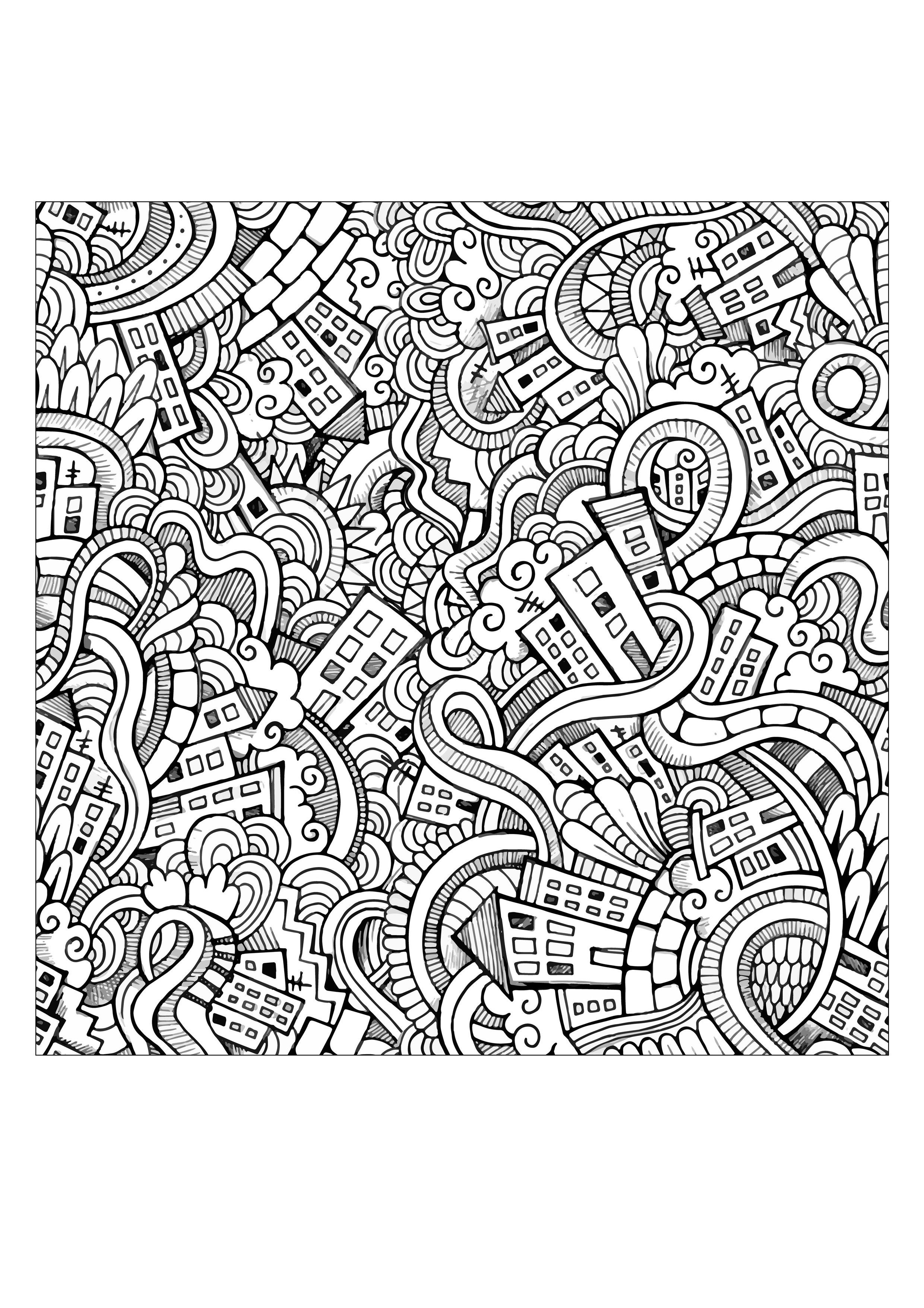 Doodle Art Coloring Pages Free Printable Doodle Art Coloring Pages For Adults Simple Weird