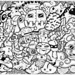 Doodle Art Coloring Pages Funny Doodle Doodle Art Doodling Adult Coloring Pages