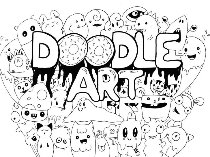 Doodle Art Coloring Pages Incredible Doodle Art Colouring Pages Sheets Alley School Subject