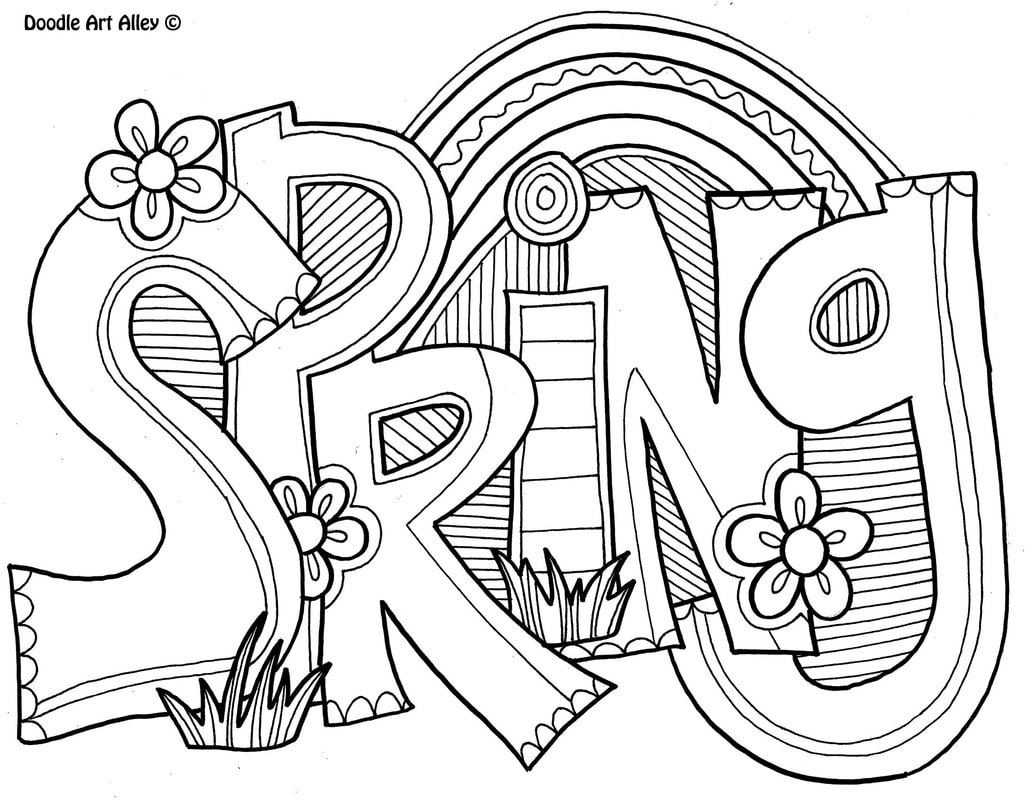 Doodle Art Coloring Pages Spring Coloring Pages Doodle Art Alley