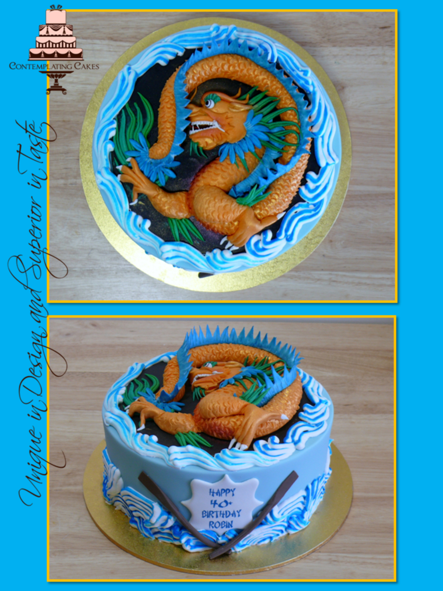 Dragon Birthday Cake Dragon Boat Themed Birthday Cake Cakecentral