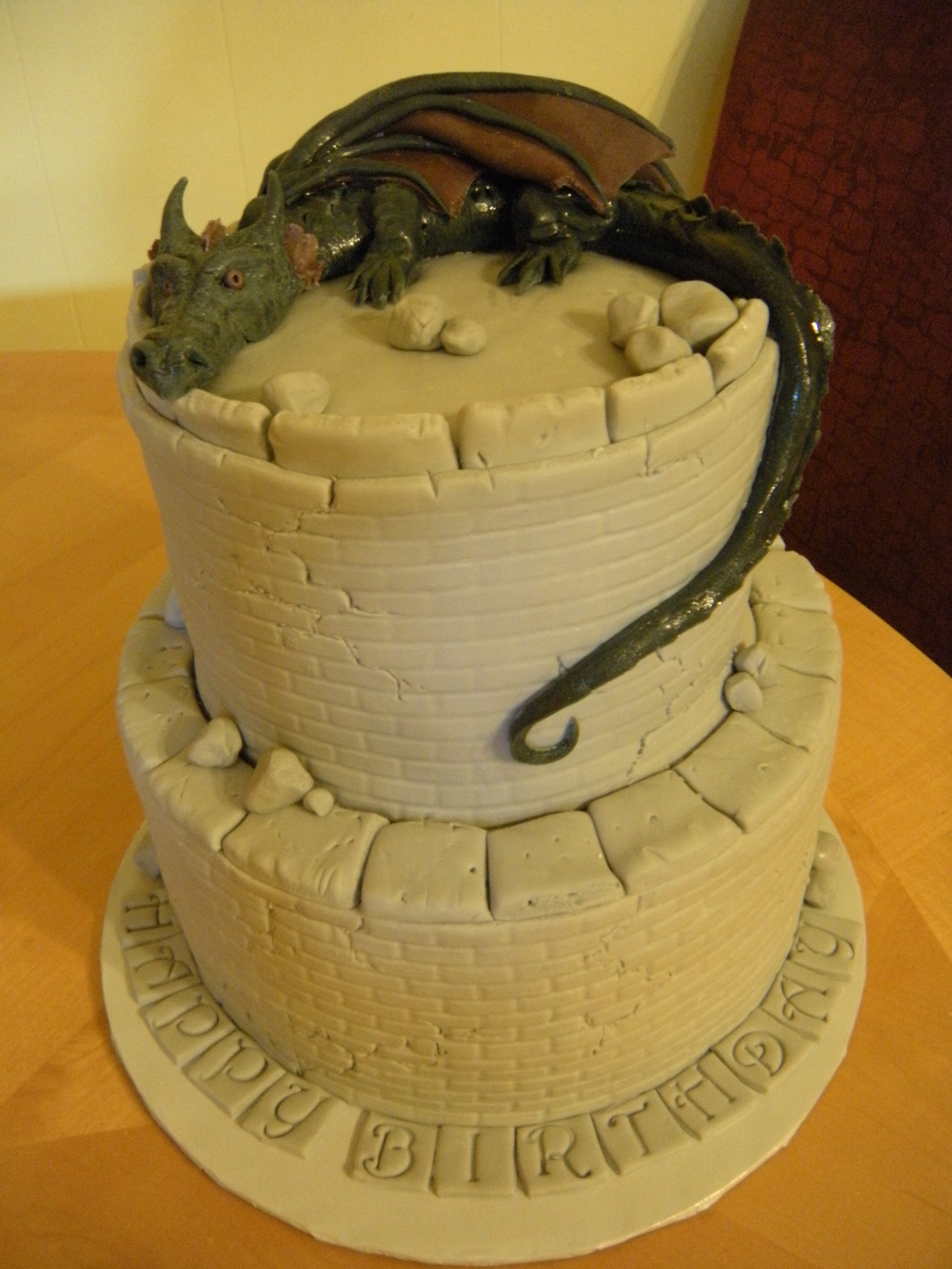 Dragon Birthday Cake Dscn8849 Main Made Custom Cakes
