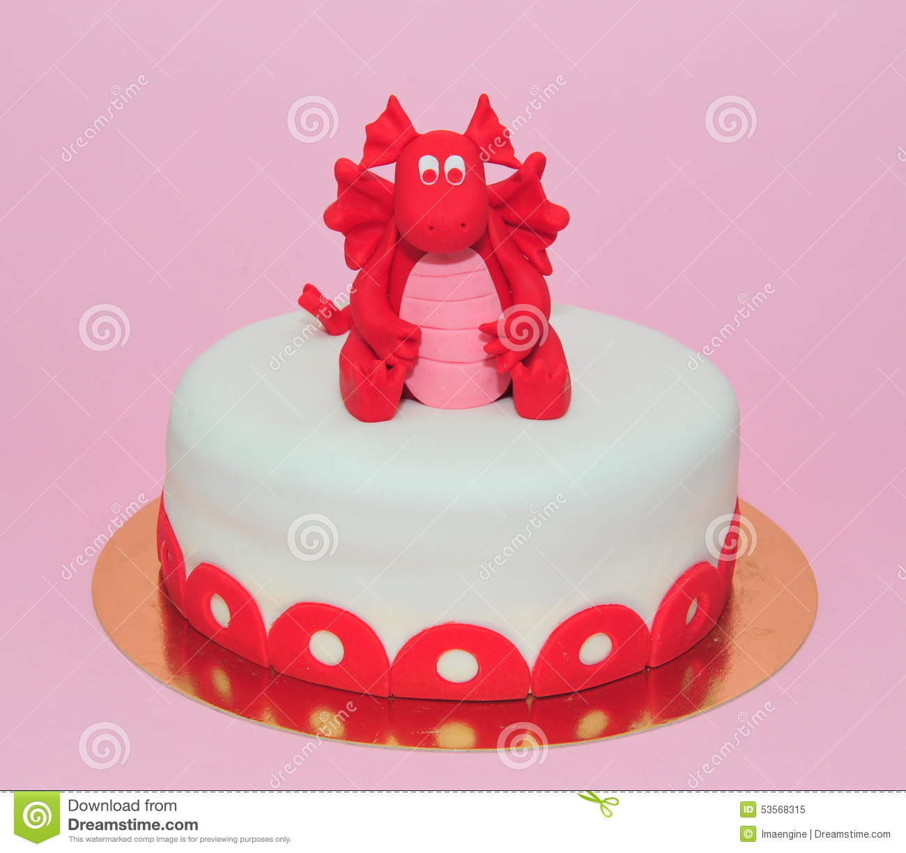 Dragon Birthday Cake Red Ba Dragon Girl Birthday Cake Stock Image Image Of Home