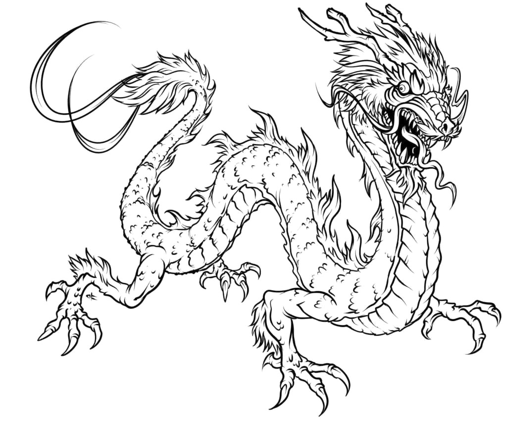 Dragon Coloring Pages Dragon Coloring Pages For Adults To Download And Print Free In