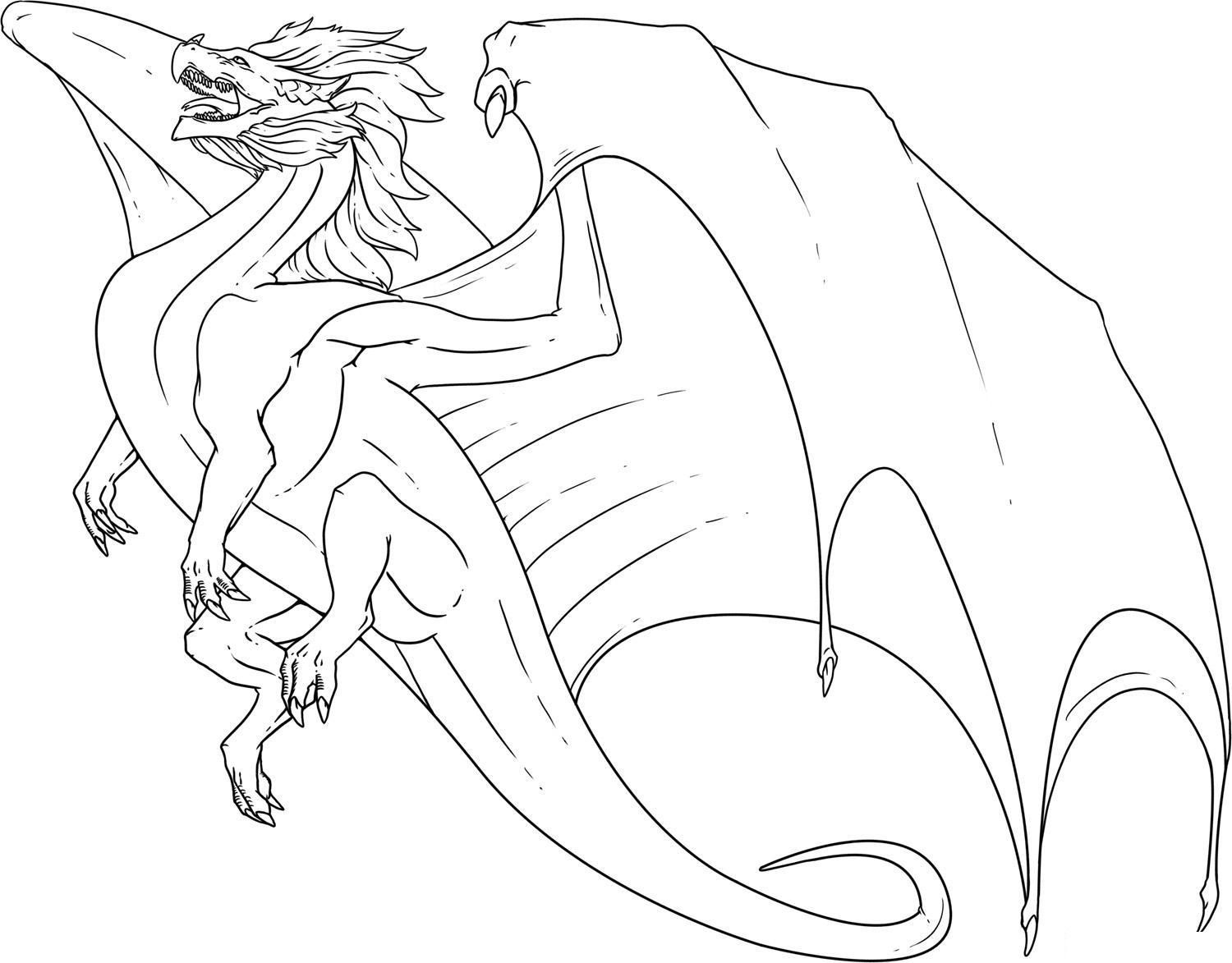 Dragon Coloring Pages Fire Dragon Coloring Pages Wuming