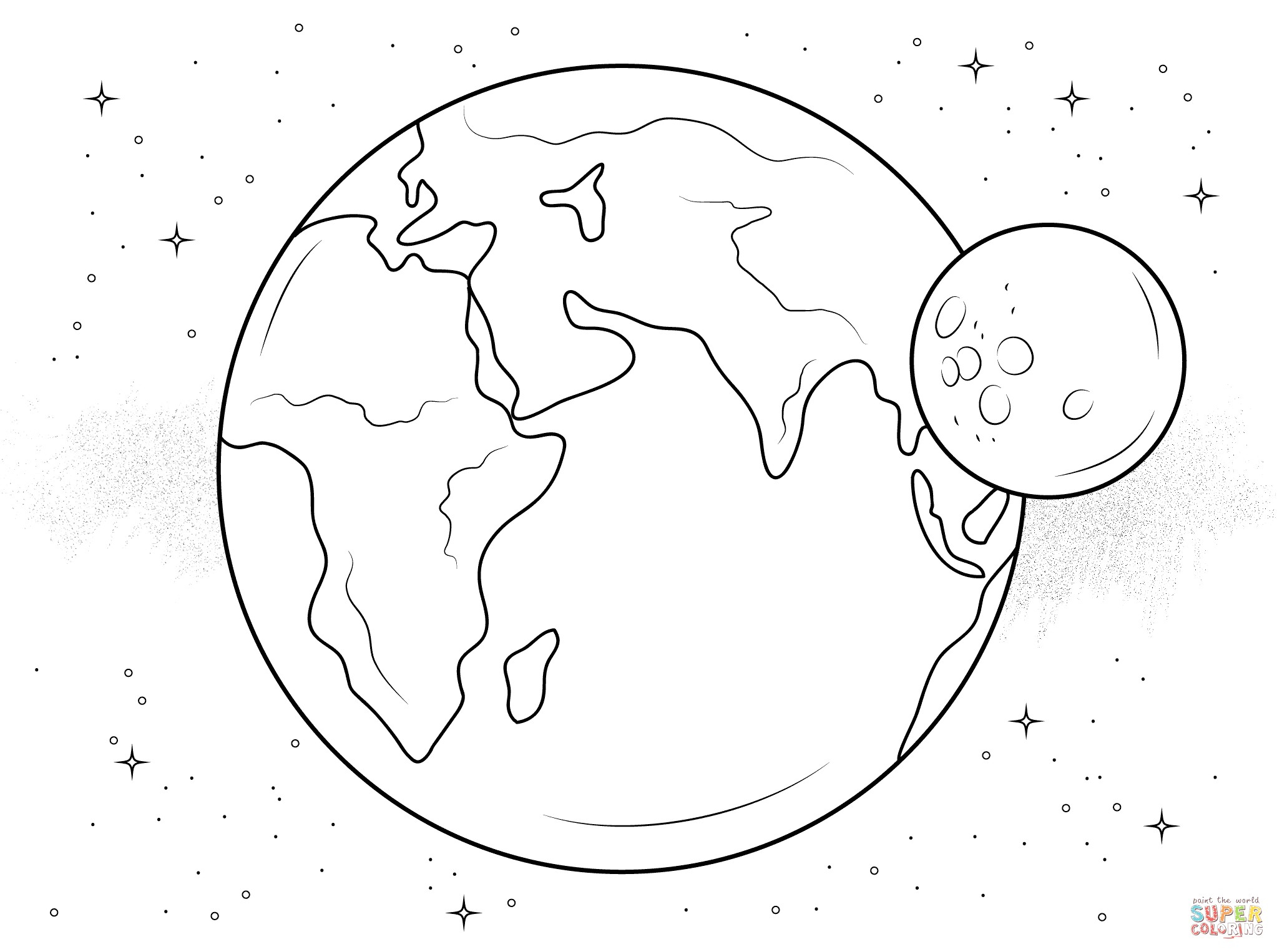 Earth Coloring Pages Earth Coloring Page Diywordpress