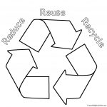 Earth Coloring Pages Math Worksheets Recycling For Preschool Reduce Reuse Recycle