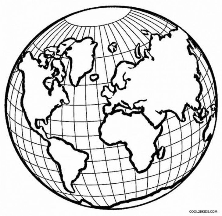 Earth Coloring Pages Surging Printable Picture Of The Earth Coloring Pages 6 Autosparesuk
