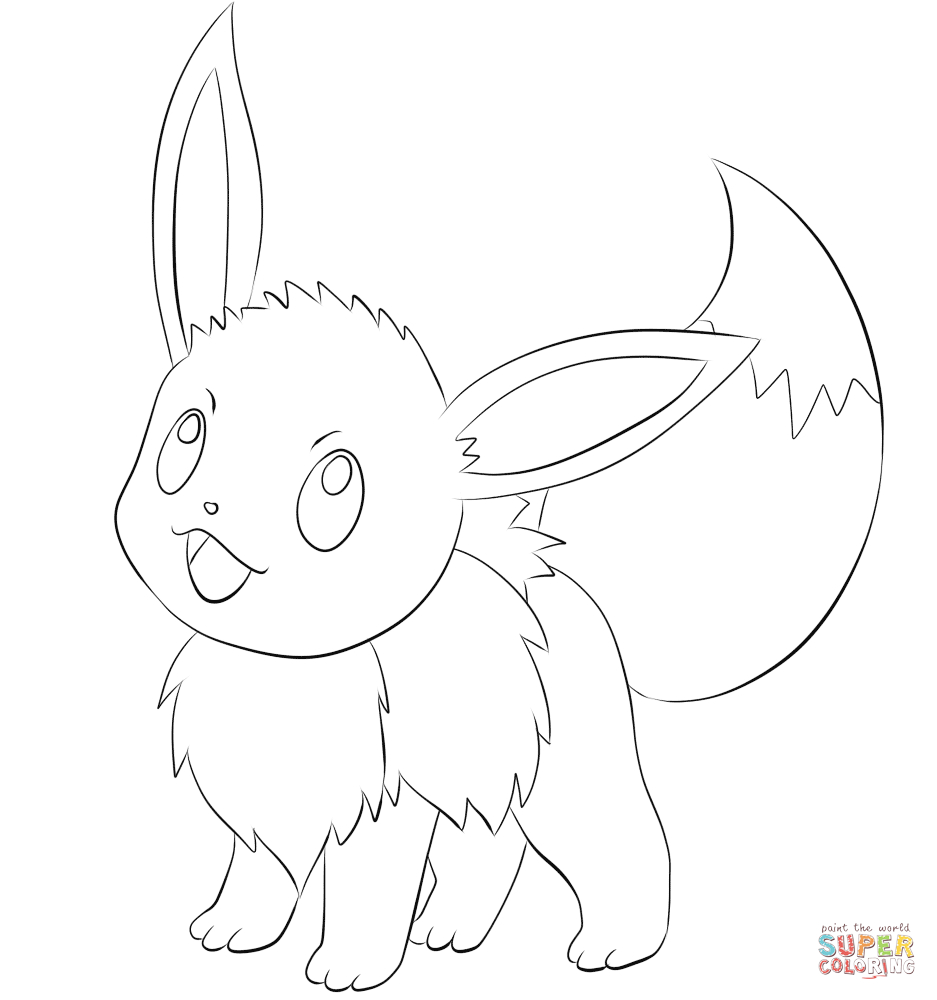 25+ Great Picture of Eevee Coloring Pages