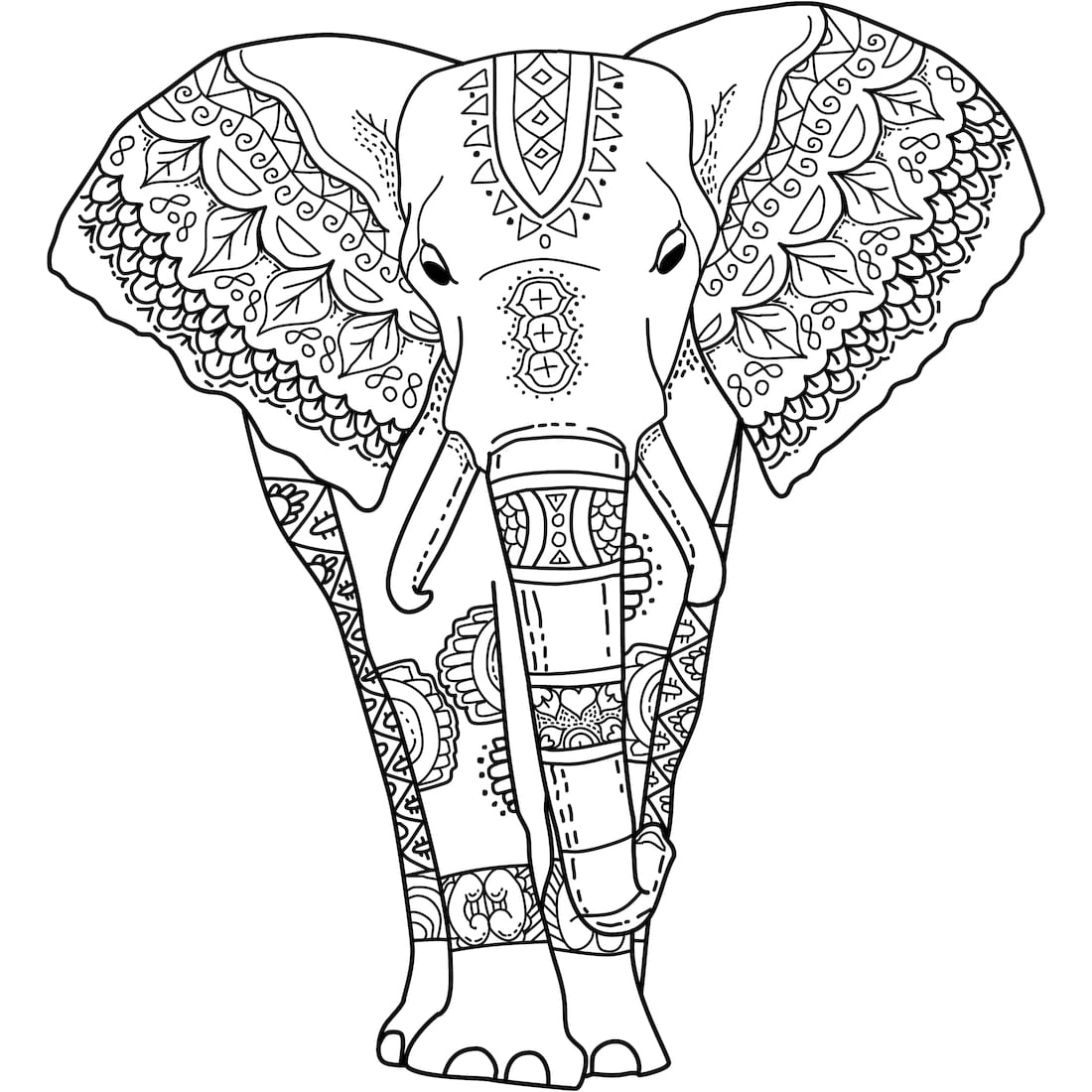 Elephant Adult Coloring Pages Adult Coloring Pages Elephant Coloring Pages