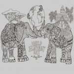 Elephant Adult Coloring Pages Animal Coloring Page World Elephant Day Elephants Adult Coloring