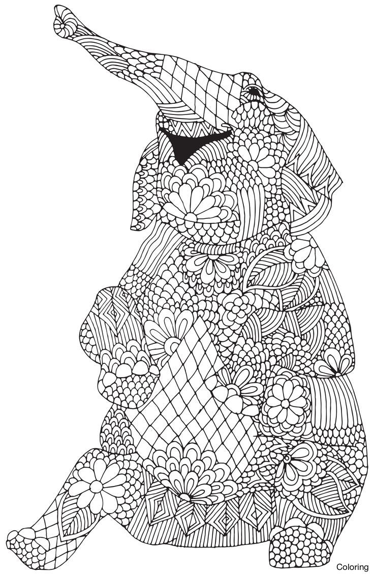 Elephant Adult Coloring Pages Best Of Coloring Adult Elephant Patterns Mandala Pages A Big Full