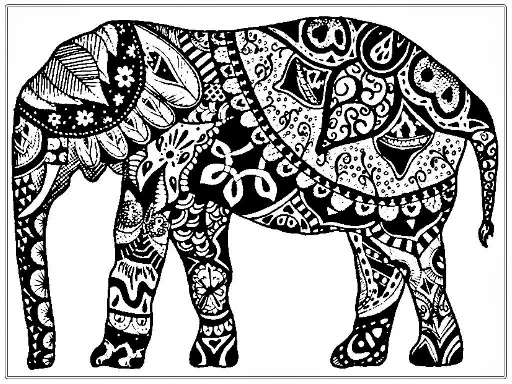 Elephant Adult Coloring Pages Elephant Adult Coloring Pages At Getdrawings Free For Personal
