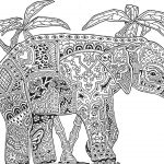 Elephant Adult Coloring Pages Elephant Adult Coloring Pages Futurama