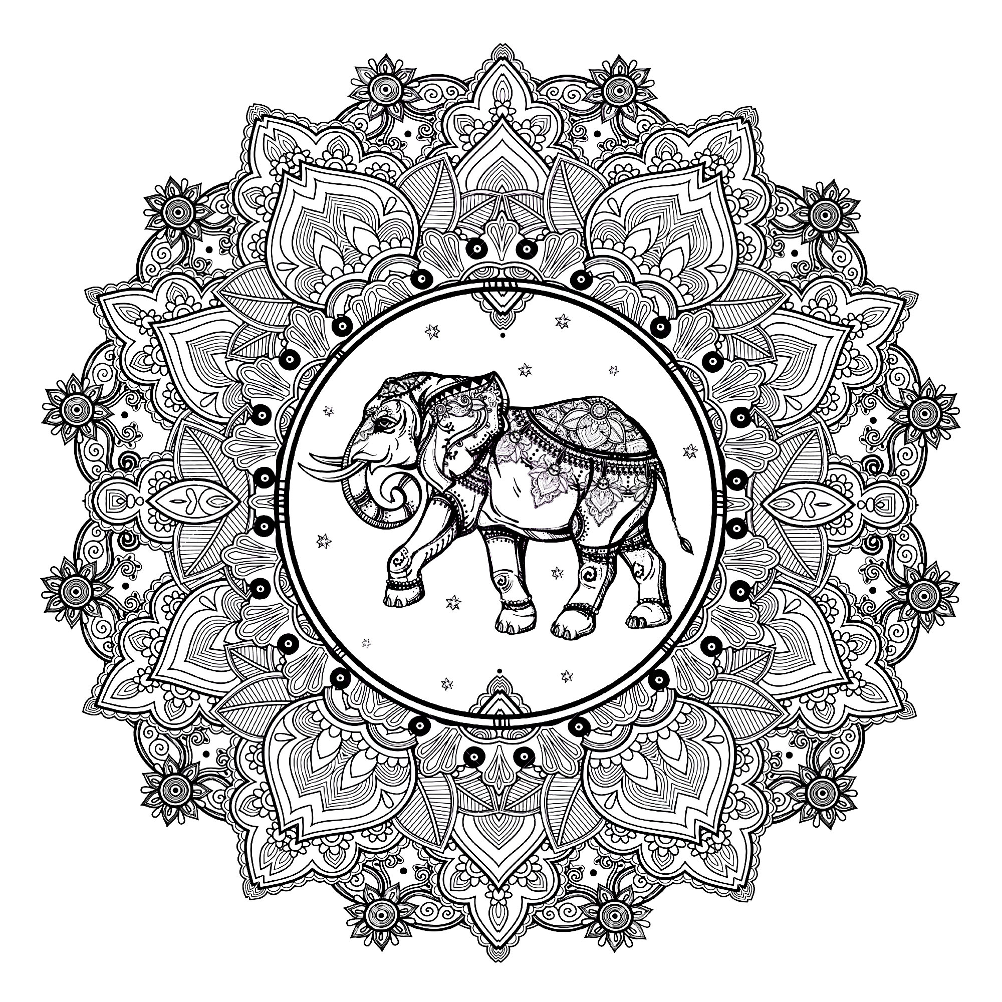 Elephant Adult Coloring Pages Mandala Elephant Coloring Pages Mandala Elephant 123rf M Alas