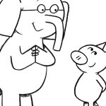 Elephant And Piggie Coloring Pages Elephant And Piggie Coloring Page Kid Stuff Pinterest Mo In Pages